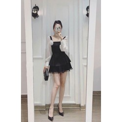 Đầm tay voan phối