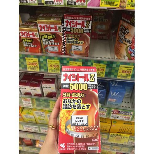 Viên uống giảm cân & giảm mỡ bụng kobayashi naishituro z 5000 - 19736403 , 24867091 , 15_24867091 , 950000 , Vien-uong-giam-can-giam-mo-bung-kobayashi-naishituro-z-5000-15_24867091 , sendo.vn , Viên uống giảm cân & giảm mỡ bụng kobayashi naishituro z 5000