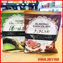 Kẹo Socola Tiramisu và Matcha bọc hạnh nhân Nikkoh Nhật Bản