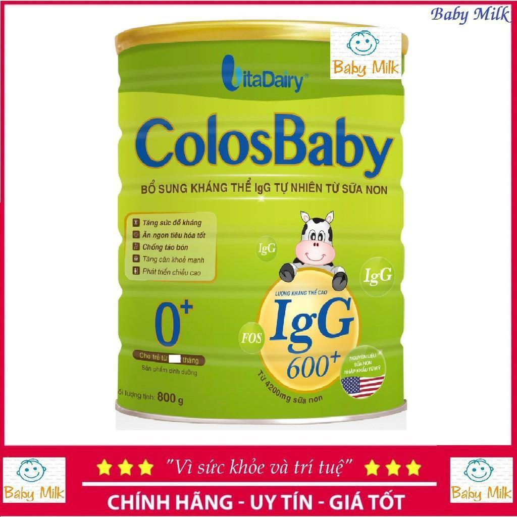 Chính hãng sữa bột colosbaby 600igg 800g date2021