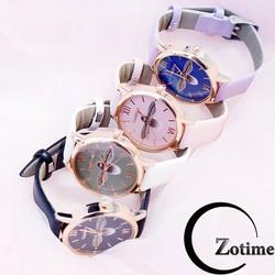 Đồng hồ thời trang nữ Candycat dây da mặt ong Zotime ZO87