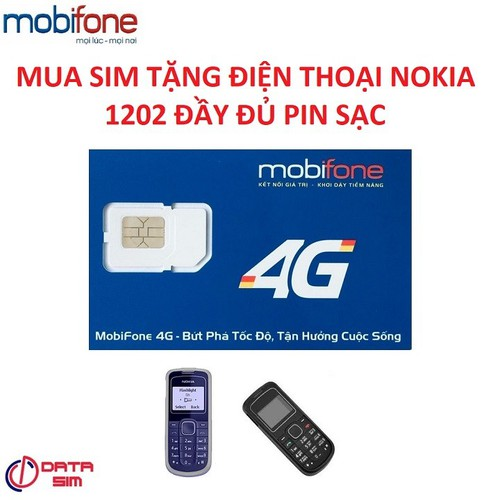 Sim 4g mobifone m79 tốc độ cao tặng kèm điện thoại nokia 1202 đầy đủ pin sạc