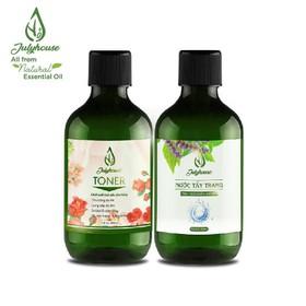 Bộ chăm sóc da mặt Toner và Nước Tẩy trang chiết xuất tinh dầu 300ml JULYHOUSE - TonerTT300
