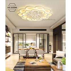 Đèn LED ốp trần hình hoa pha lê 16-20 cánh NT023 3 chế độ ánh sáng - Có điều khiển - Bảo hành 1 năm - Led siêu sáng tiết kiệm điện bảo vệ mắt