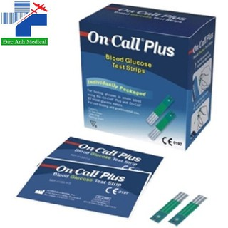 DUY NHẤT Que thử đường huyết Oncall Plus, dùng cho máy Oncall plus,Oncall EZII,Oncall EZ- [hộp 25] - da2020 - Que thử đường huyết Oncall thumbnail