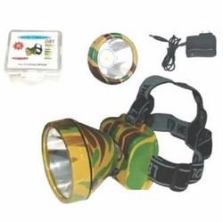 Đèn pin đeo đầu siêu sáng sạc điện- đèn pin đội đầu rằn ri soi ếch