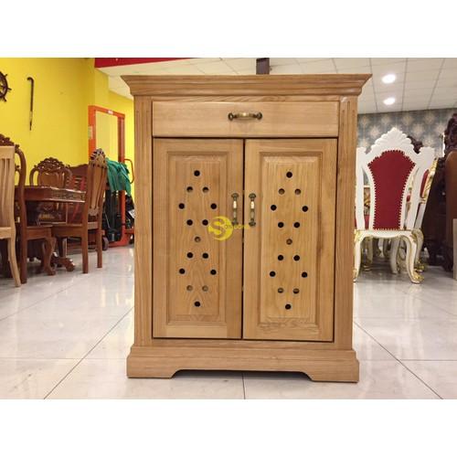 Tủ dày dép gỗ sồi 2 cánh giá rẻ lcmtg03