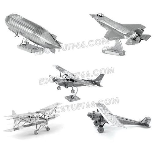 Combo mô hình máy bay - hàng chưa lắp - mô hình kim loại 3d