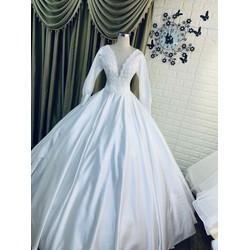 áo cưới phi trắng giá mềm sale duy nhất 1 áo nhanh  tay