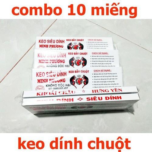 Combo 10 hộp keo dính chuột - keo dính chuột - keo diệt chuột - keo bẫy chuột