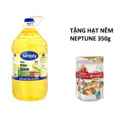 Dầu Ăn Simply Đậu Nành 5L + Tặng 1 Gói Hạt Nêm Neptune Vị Heo 350Gr