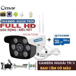 [Giảm 50k nhập EL2691] Camera Yoosee ngoài trời HD 1080P + Thẻ Nhớ 64g