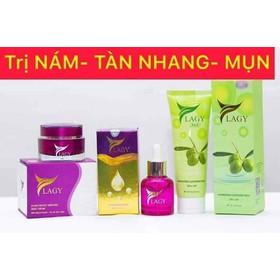 Combo YLAGY 3 sản phẩm: Kem Face - Serum - Sữa rữa mặt - A09