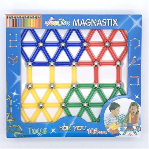 Bộ xếp hình nam châm jiada magnastix 103 món - 19776334 , 24922065 , 15_24922065 , 149000 , Bo-xep-hinh-nam-cham-jiada-magnastix-103-mon-15_24922065 , sendo.vn , Bộ xếp hình nam châm jiada magnastix 103 món
