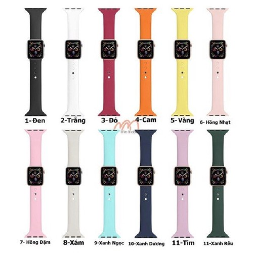 Dây silicon nhỏ apple watch size 38 42 44