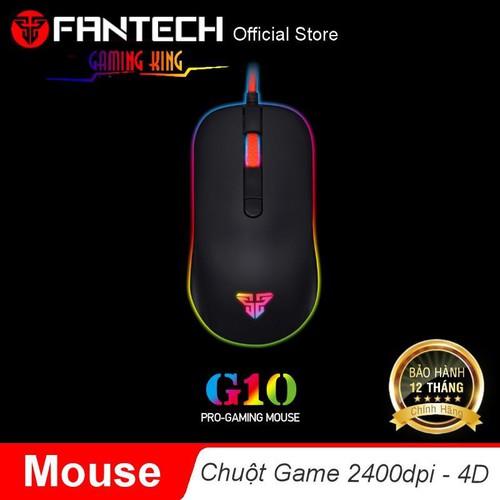 Mã elfantech12 giảm 7 đơn 50k chuột chơi game 2400dpi 4d fantech g10