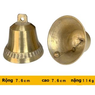 Chuông đồng phong thủy, Chuông đồng nhỏ Vàng Kim loại cho Nhà thờ,Đình, Chùa 206722-2 - 206722-2 thumbnail
