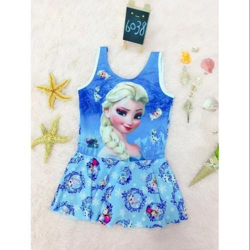 Bộ bơi công chúa elsa cho bé hàng túi zip đẹp