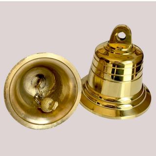 Chuông đồng phong thủy, Chuông đồng nhỏ Vàng Kim loại cho Nhà thờ 206723-2 - 206723-2 thumbnail