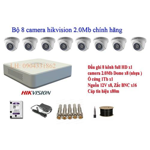 Trọn bộ 8 camera dome hikvision 2.0mp  56d0t-irp  + ds-7108hghi-f1 + ổ cứng 1tb+ 80m cáp tín hiệu+8 nguồn 12v+ 8 zắc bnc - 19763372 , 24902900 , 15_24902900 , 9560000 , Tron-bo-8-camera-dome-hikvision-2.0mp-56d0t-irp-ds-7108hghi-f1-o-cung-1tb-80m-cap-tin-hieu8-nguon-12v-8-zac-bnc-15_24902900 , sendo.vn , Trọn bộ 8 camera dome hikvision 2.0mp  56d0t-irp  + ds-7108hghi-f1