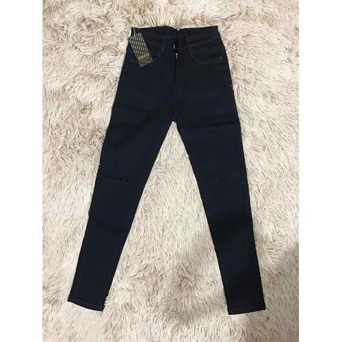 Quần jeans đen ôm rách gối 205