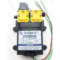 Máy bơm đôi SUMO tăng áp lực nước mini 12V 130W Lưu lượng 10-12 LPM - Máy Rửa Xe - Máy Bơm Tăng Áp - Máy Xịt Rửa - Tự động hút nước