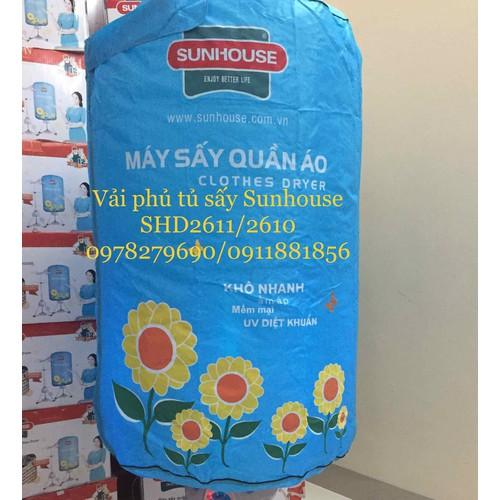 Vải bạt phủ khung tủ sấy quần áo sunhouse shd2610 shd2611