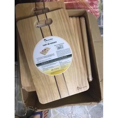 Thớt gỗ hình chữ nhật cao cấp kazuko hàng xuất cỡ lớn