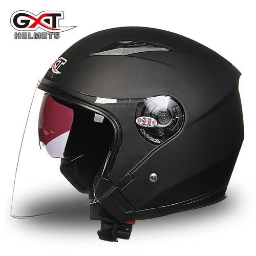 Mũ bảo hiểm gxt 2 kính - đen nhám - gxt512 mũ 2 kính chính hãng gxt