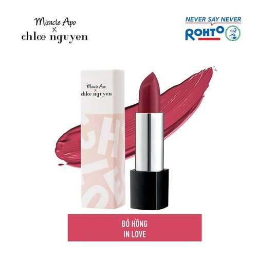 Son thỏi miracle apo x chloe nguyễn holiday collection lipstick in love 4g - đỏ hồng