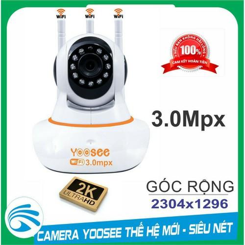Camera ip yoosee 3.0mpx 3 ăngten - thế hệ mới