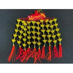 Set 10 dây thỏi vàng in chữ treo cây mai đào Tết