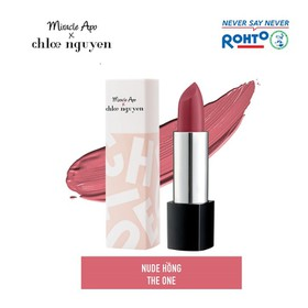 Son thỏi lì Miracle Apo x Chloe Nguyễn Holiday Collection Lipstick The One 4g - Nude Hồng - RMV-MA19-HC-TO