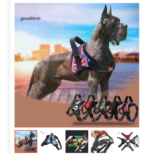 Yếm đeo dùng để gắn dây cho chó, thiết kế bền đẹp và thời trang