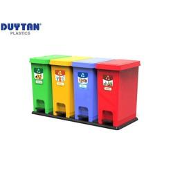 Thùng rác ECO Bộ 4 Duy Tân No.0953-4 - 4 ngăn phân loại rác hữu cơ, nhựa, giấy, khác