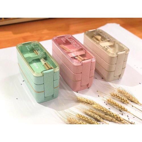 Hộp đựng cơm lúa mạch 3 ngăn