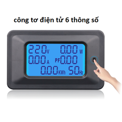 Công tơ điện 220v 100A 6 thông số,thiết bị đo công suất,đồng hồ điện tử 1 pha