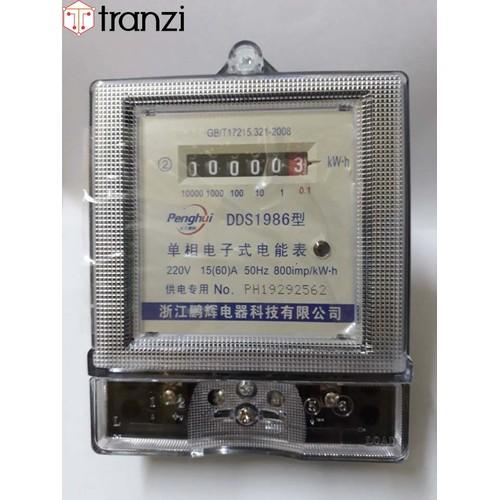Công tơ điện 1 pha dds1986 220vac 50hz 800imp kwh 15a 60a