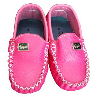 Giày lười cho bé gái màu hồng da thật - giay10 thumbnail