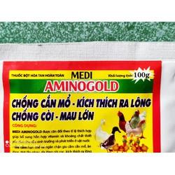 AMINOGOLD CHỐNG CẮN MỔ MAU RA LÔNG gói 100gr