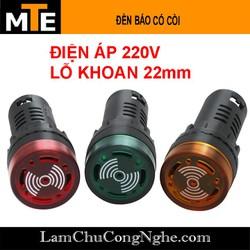 Đèn báo tín hiệu có còi 22mm 220V AD16-22SM