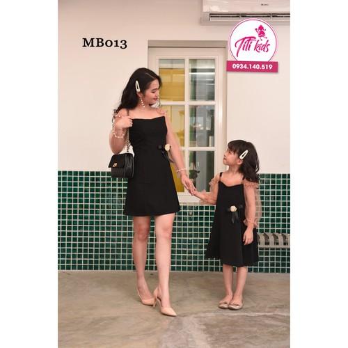 Set váy mẹ bé chơi tết cực xinh đồ cặp mẹ bé titikids