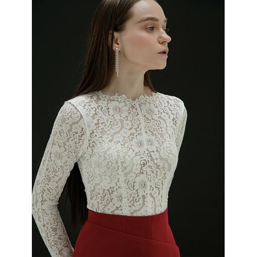 Cocosin - áo ren trắng tay dài