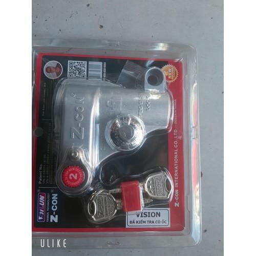 Khóa đĩa chống trộm xe máy zcon cho xe vision - 21106893 , 24253125 , 15_24253125 , 199000 , Khoa-dia-chong-trom-xe-may-zcon-cho-xe-vision-15_24253125 , sendo.vn , Khóa đĩa chống trộm xe máy zcon cho xe vision