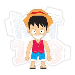 Mô hình giấy Anime One Piece Monkey D. Luffy