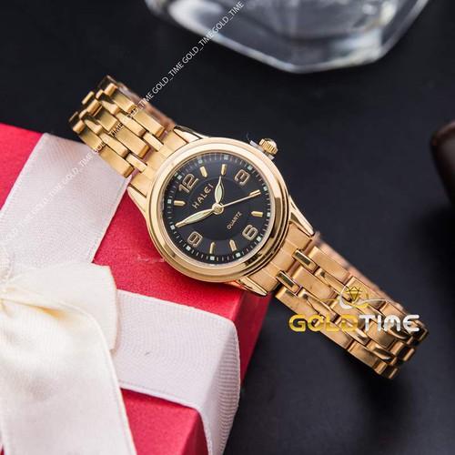 Đồng hồ nữ halei ha472 dây thép không gỉ