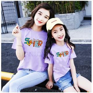 [ Siêu SALE ][ Cho Xem Hàng ] áo thun mẹ và bé in hình SUMMER cực đẹp cực [ HOT ] chỉ có tại thời trang FanTom - áo thun mẹ và bé 01 thumbnail