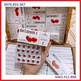Vitamin E đỏ Nga - vitaminE đỏ Nga - nội địa Nga dạng vỉ 20 viên - MADE IN RUSSIA - SP003 thumbnail