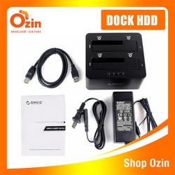 Khay đựng ổ cứng Docking ORICO 6629US3-C USB3.0 3.5 2.5 2 khe- Hình hộp