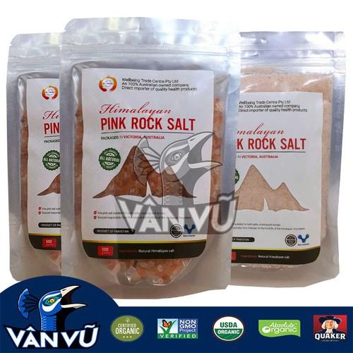 Siêu giảm giá 3 túi muối hồng himalaya hạt nhuyễn, hạt to thô 1,5kg hàng công ty, thanh lọc cơ thể